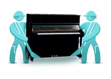 Перевозка равно перенесение пианола да роялей